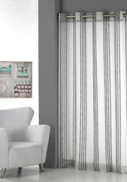 Cortina confeccionada clara vidal visillo gester for Cortinas grises