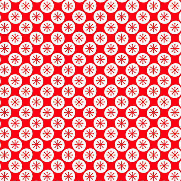 Loneta Estampada Navidad | Rojo con copos de nieve – KILOtela