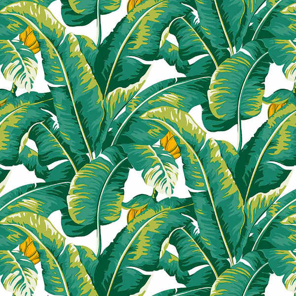 Loneta estampada hojas tropicales kilotela - Loneta para tapizar ...