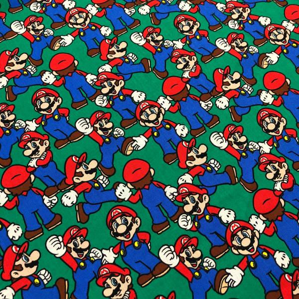 Edredon De Mario Bros.Tela De Patchwork Estampado Mario Bros